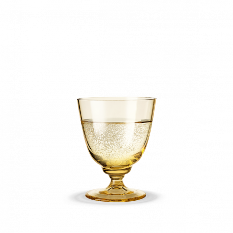 Holmegaard Flow Glass med stett Ravgul 35 cl