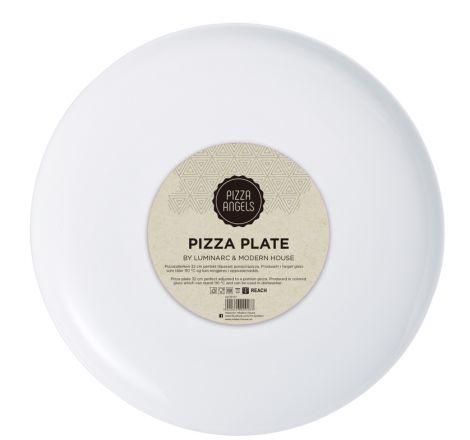 Modern House Pizza Angels Pizzatallerken Hvit Glass 32 cm