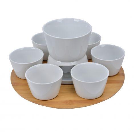 Modern House Daily Use Tacosett Porselen / Bambus