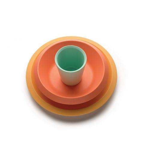 Alessi Giro Kids Barneservise 3-deler Gul/Oransje/Grønn