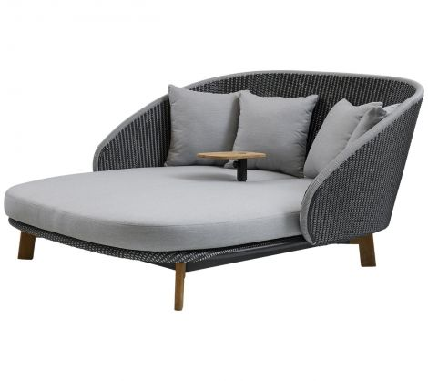 Cane-line Peacock Daybed m/bord inkl. puter
