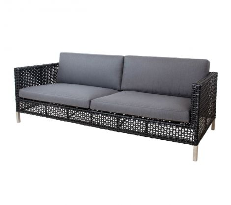 Cane-line Connect 3 seter lounge sofa Sort / Anthracite. Levering medio august.