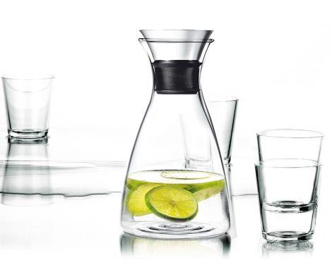 Eva Solo Karaffel 1l, m/4 vannglass