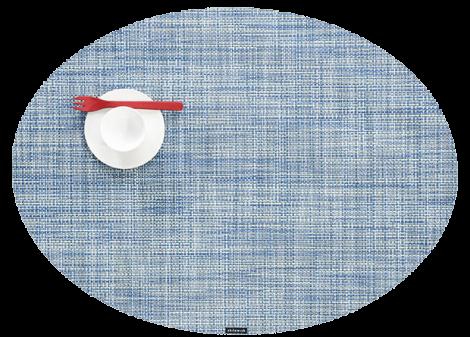 Chilewich Servise Mini Basketwave Oval Chambray 4stk