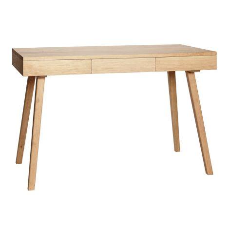 Nydelig skrivebord m / 3 skuffer Eik Natural FSC. Levering i mai 2021.