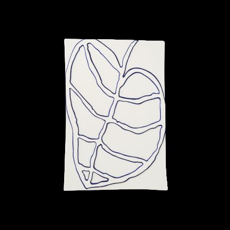 Kähler Relief Veggoppheng Blad Keramikk