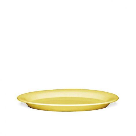 Kähler Ursula Oval Plate Yellow 33x22 cm