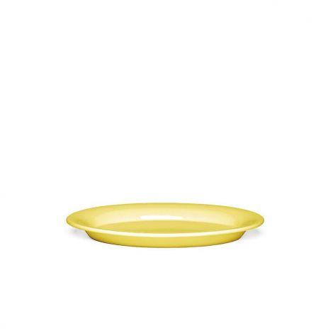 Kähler Ursula Oval plate gul 28x18,5 cm