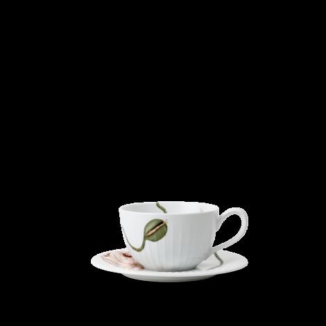 Kähler Poppy Tekopp m/ skål Hvit 38 cl