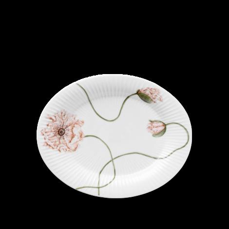 Kähler Poppy Ovalfat Hvit 22,5x28,5 cm