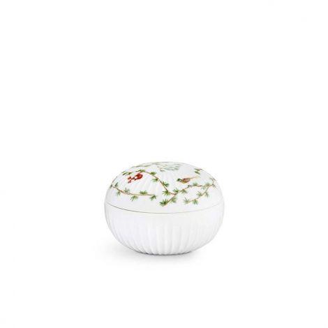 Kähler Hammershøi Julebonbonnier Ø11,5 cm hvit