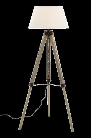 Scan Lamps Loke Gulvlampe Hvitbørstet/Hvit