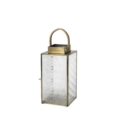 "Broste Copenhagen Lantern ""Lifa"" Iron / Leather Medium"