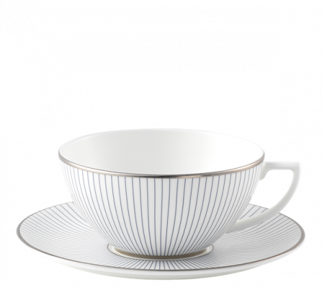 Wedgwood Jasper Conran Pin Stripe Tea Cup & Saucer 23 cl