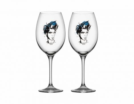 Kosta Boda All About You, Miss Him (Blue) 2-Pack