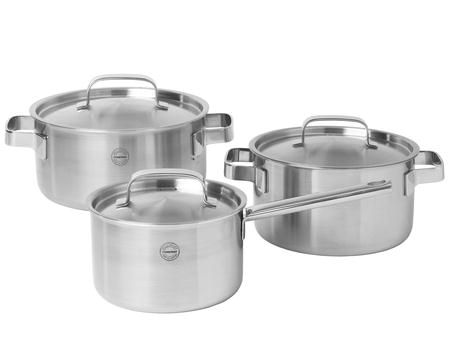 Pillivuyt Gourmet - Somme grytesett 6 deler stål - 1,5/3/5 liter