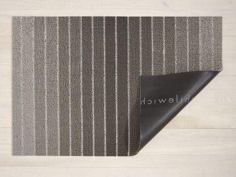 Chilewich Dørmatte Block Stripe Taupe Stor