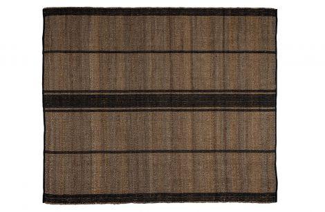 WOOOD Kamil Teppe Jute Stripe Natur/Sort 170x240 cm