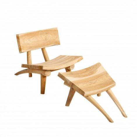 Muubs stol og fotskammersett Dakota