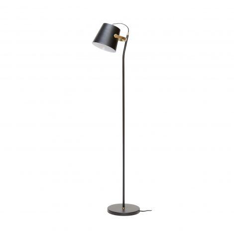 Hübsch gulvlampe metall svart / messing. Levering juli -21.