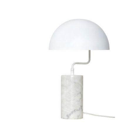Hübsch Bordlampe Marmor Hvit
