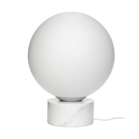 Hübsch gulvlampe marmor / glass hvit