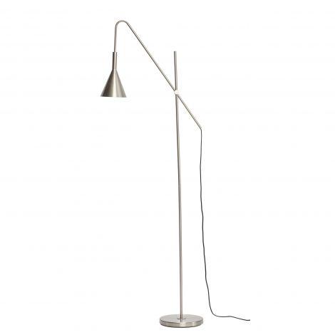 Hübsch gulvlampe metall nikkel
