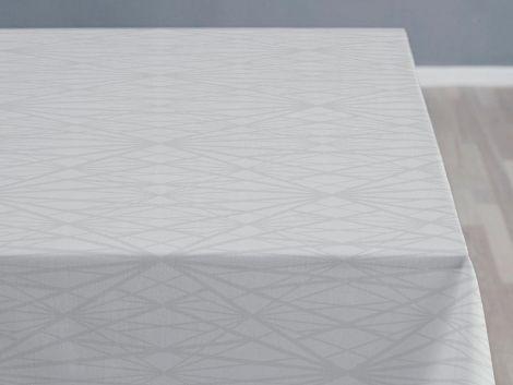 Södahl Damask Diamond gitterduk 140 x 220 cm lys grå