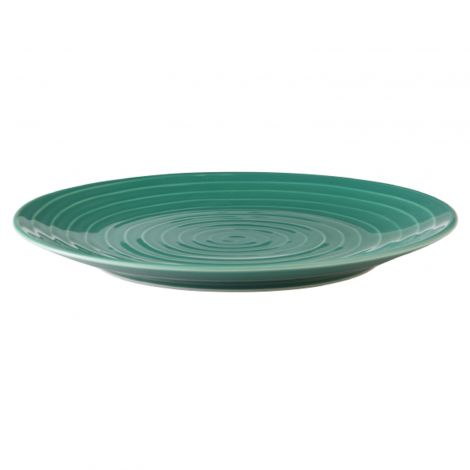 Design House Stockholm Blond Plate Green Stripe 2stk