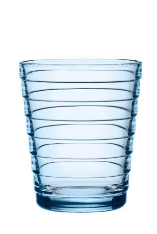 Iittala Aino Aalto glass 22cl aqua 2stk