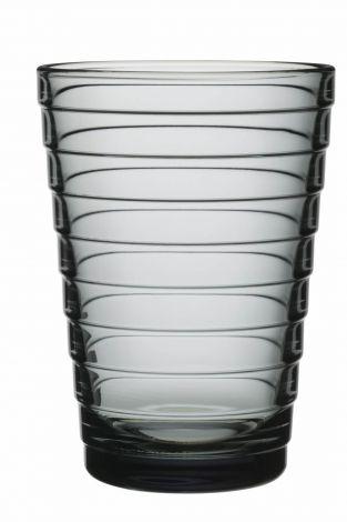 Iittala Aino Aalto Glass grå 2-pk 33cl