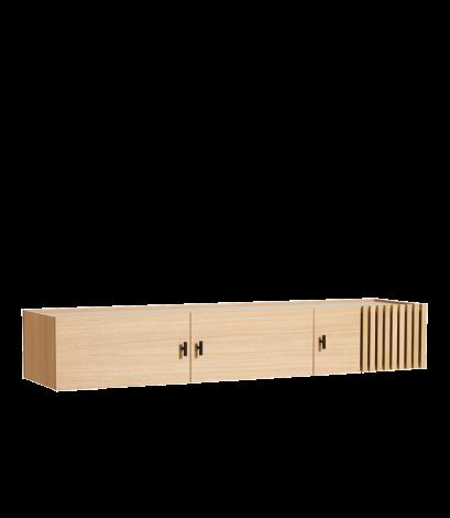 Woud Array Veggmontert Sidebord Eik 150cm