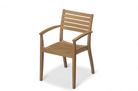 Skagerak Ballare stol, stabelbar teak