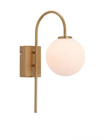 Herstal Ballon Vegglampe Sateng/ Matt Messing LED