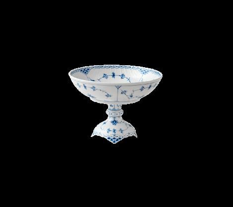 Royal Copenhagen Musselmalt Halvblonde Skål m / fot 16 cm