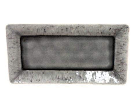 Serveringsfat Costa Nova Madeira rektangulær grå - 34 cm