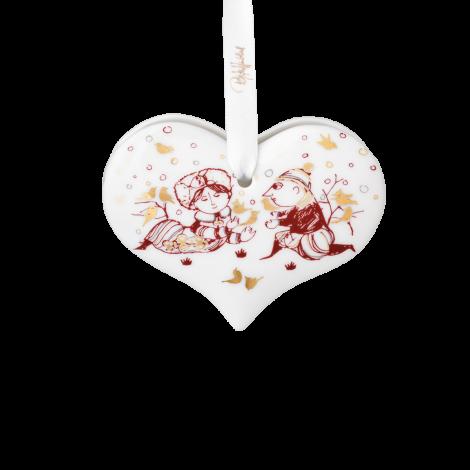 Bjørn Wiinblad Jul Hjerte rød 6,5 cm