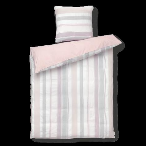 Juna Calm Sengetøy rosa 140x220 cm pute 50x70cm
