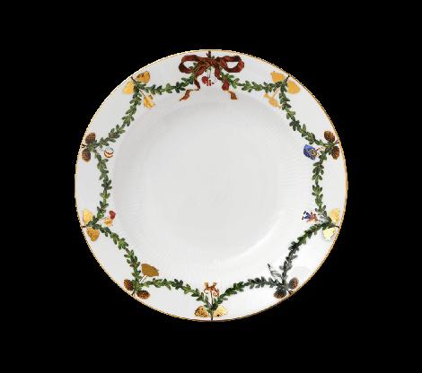 Royal Copenhagen Stjerne Riflet Christmas Plate Deep 24 cm. Levering mai -21.