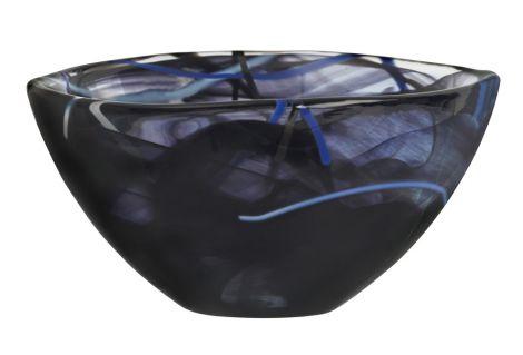 Kosta Boda Kontrastskål svart 16cm