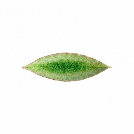 Costa Nova Riviera assiet laurbærblad grønn/sort - 18 cm