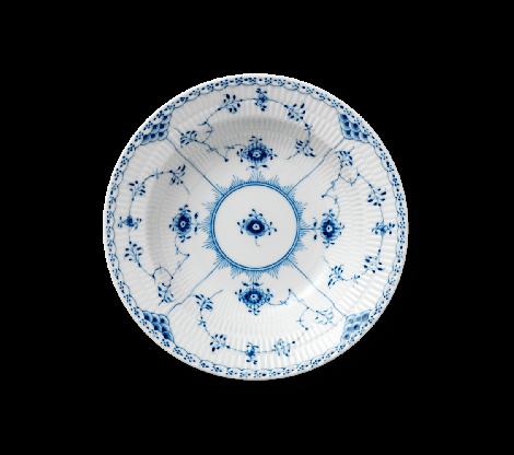 Royal Copenhagen Blue Fluted Half Lace Tallerken Dyp 21 cm