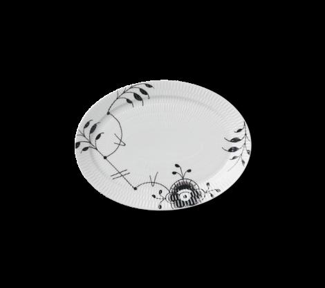 Royal Copenhagen Sort Mega Riflet Oval Plate 28 cm