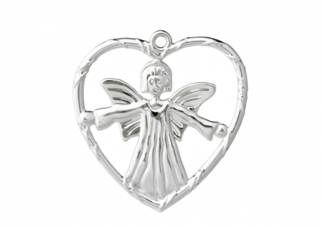 Rosendahl Karen Blixen Angel in Heart Silver Plated 7 cm