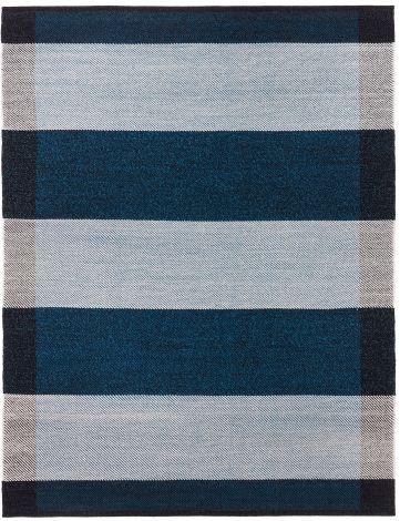 Design av Lisbet Friis Salvia Midnight Blue / Off White 200x300cm