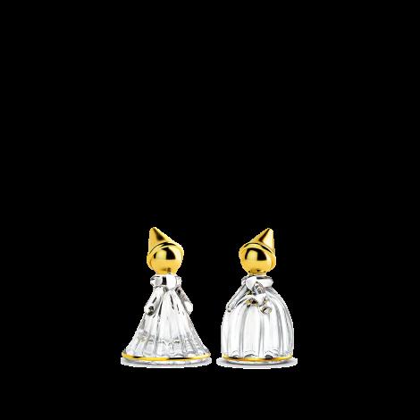 Holmegaard Fairytales Nissepar klar med gull H8,5 1 sett