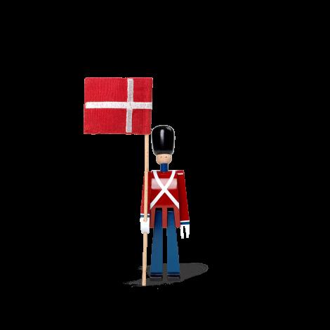 Kay Bojesen Flaggbærer med tekstilflagg mini