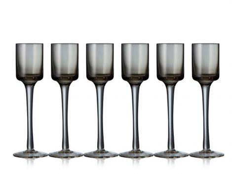 Lyngby Glass Snapseglass Grå 6stk