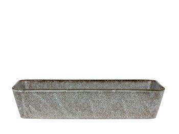 Bitz Fat rekt.38x24 grå stentøy