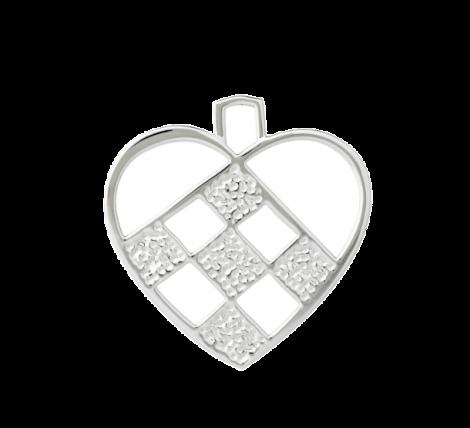 Rosendahl Karen Blixen Flettet hjerte Sølvbelagt 7,5 cm